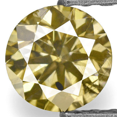 Guinea Fancy Color Diamond, 0.72 Carats, Fancy Intense Brown Round