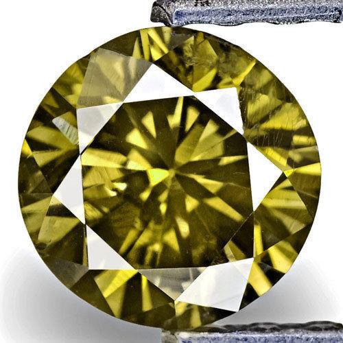 Australia Fancy Color Diamond, 0.74 Carats, Fancy Deep Greenish Brown Round