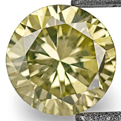 South Africa Fancy Color Diamond, 0.16 Carats, Fancy Vivid Yellowish Green