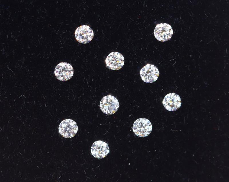 1.3mm D-F Brilliant Round VS Loose Diamond 10pcs / RD1221