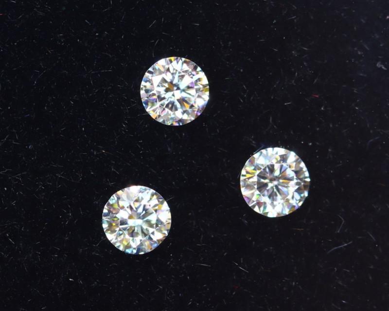 2.4mm D-F Brilliant Round VS Loose Diamond 3pcs / RD1227
