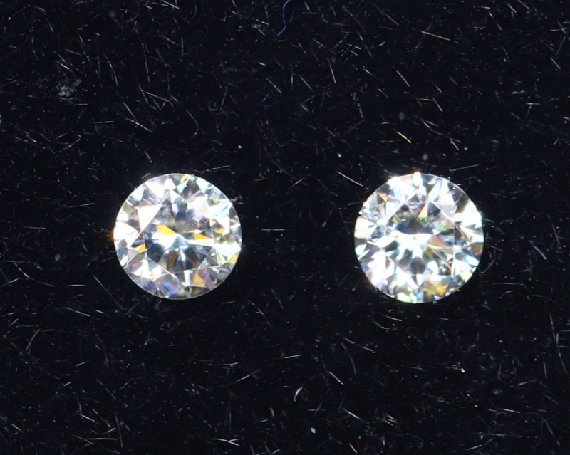 1.7mm D-F Brilliant Round VS Loose Diamond 2pcs