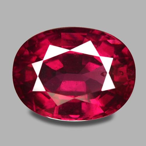 5.94 Cts Unheated Natural Cherry Red Rhodolite Garnet Gemstone
