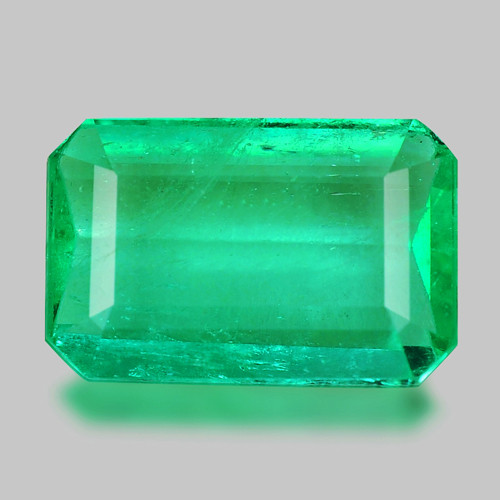 1.29 Cts Natural Earth Mined Green Color Colombian Emerald Gemstone