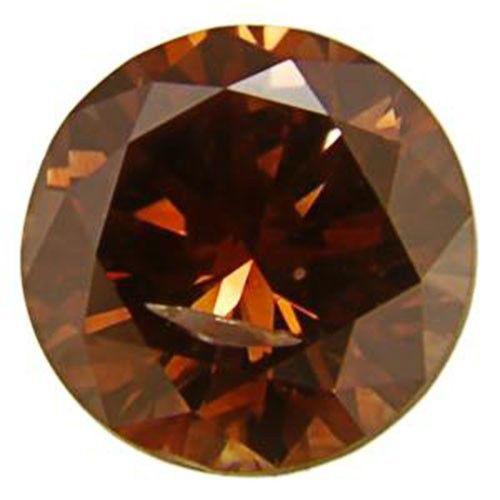 South Africa Fancy Color Diamond, 0.46 Carats, Intense Orange Round