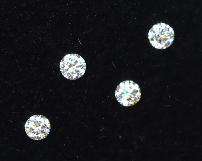 2.1mm D-F Brilliant Round VS Loose Diamond 4pcs / B
