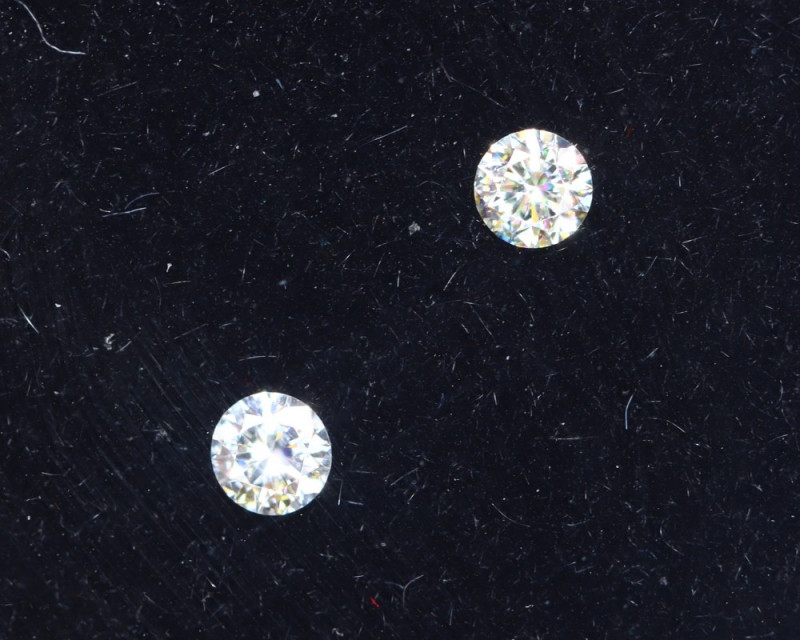 2.1mm D-F Brilliant Round VS Loose Diamond 2pcs / B