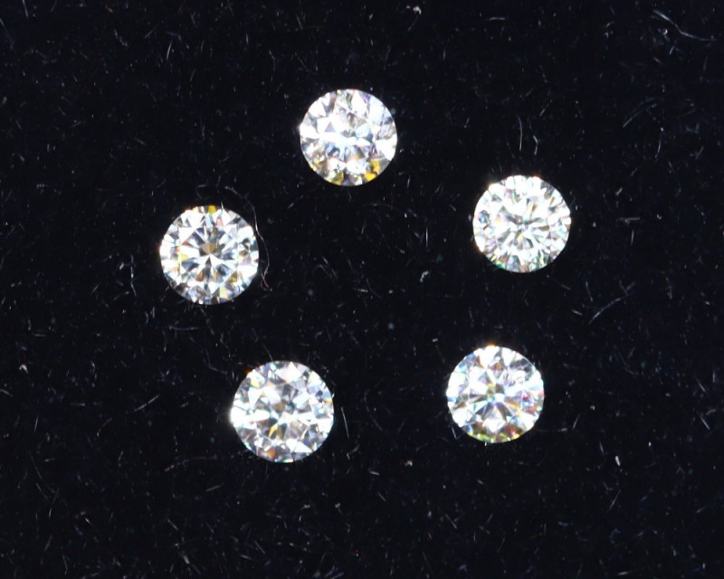 1.6mm D-F Brilliant Round VS Loose Diamond 5pcs / B