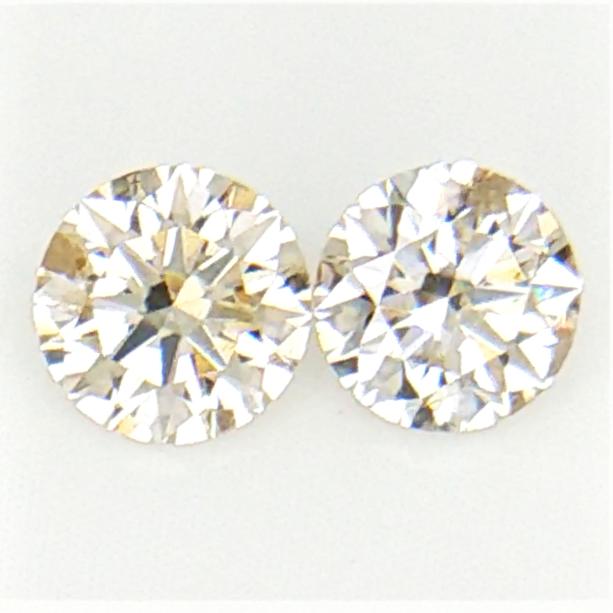 0.22 ct  , Pair Round Diamonds , Light Color Diamonds , WR1196