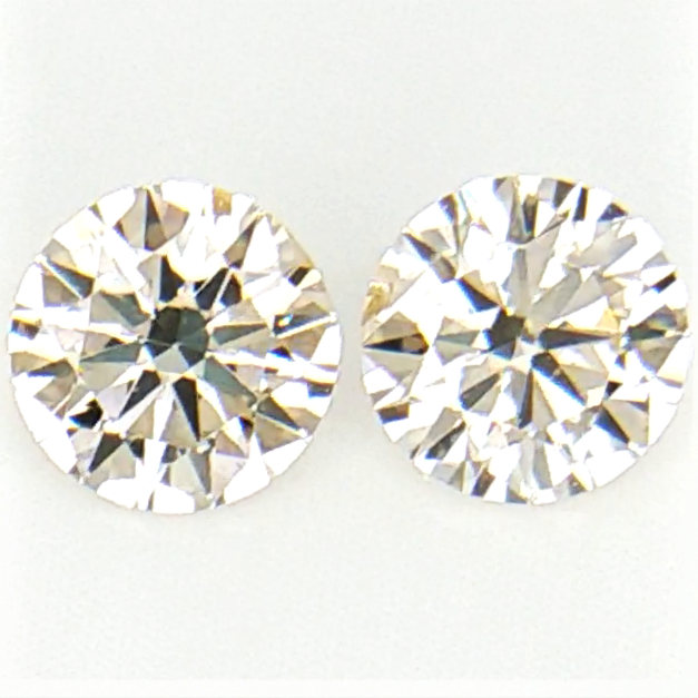 0.25 cts , Pair Round Diamonds , Light Color Diamonds , WR1200
