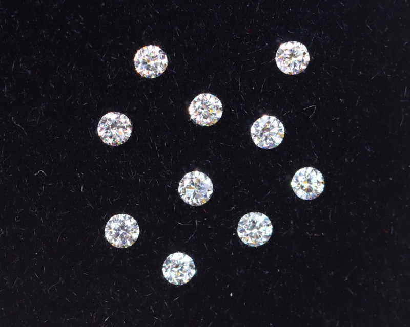 1.1mm D-F Brilliant Round VS Loose Diamond 10pcs / B