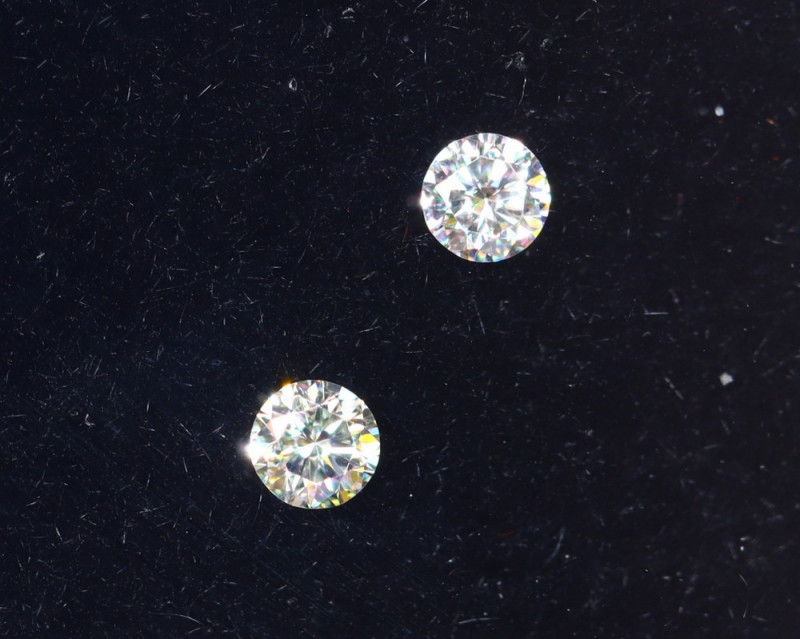 1.9mm D-F Brilliant Round VS Loose Diamond 2pcs / B