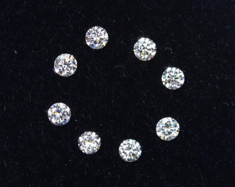 1.7mm D-F Brilliant Round VS Loose Diamond 8pcs / B
