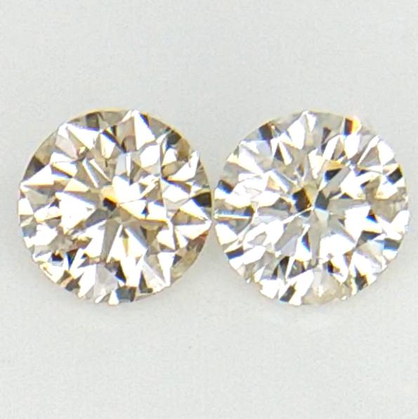0.244 ct , Pair Round Diamonds , Light Color Diamonds , WR1206