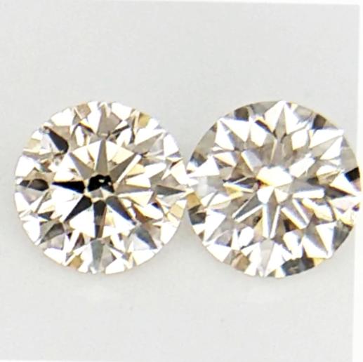 0.274 cts , Pair Round Diamonds , Light Color Diamonds , WR1207