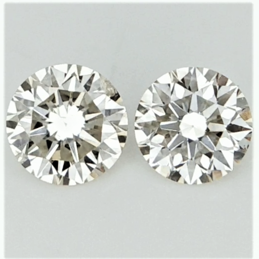 0.26 ct , Pair Round Diamonds , Light Color Diamonds , WR1208