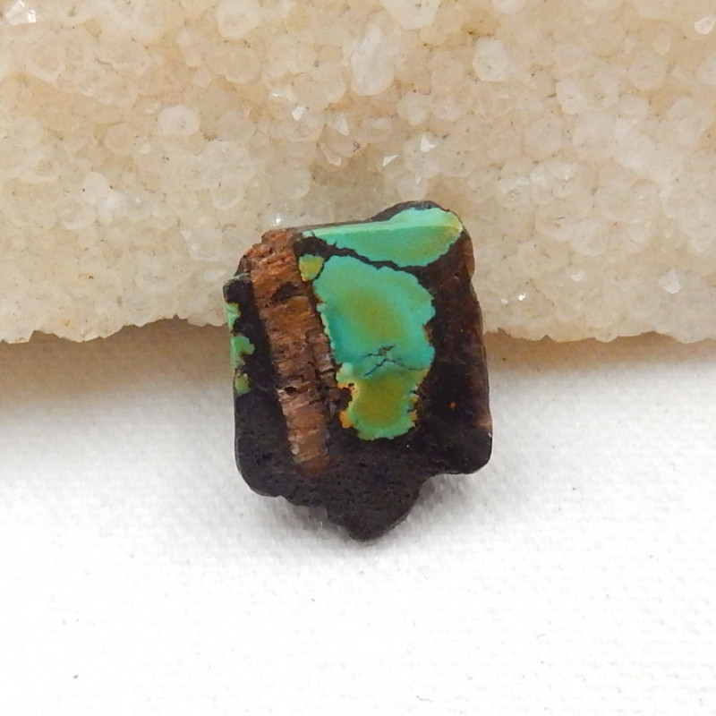 22.5cts Nugget Turquoise Pendant ,Handmade Gemstone ,Side Drilled G73