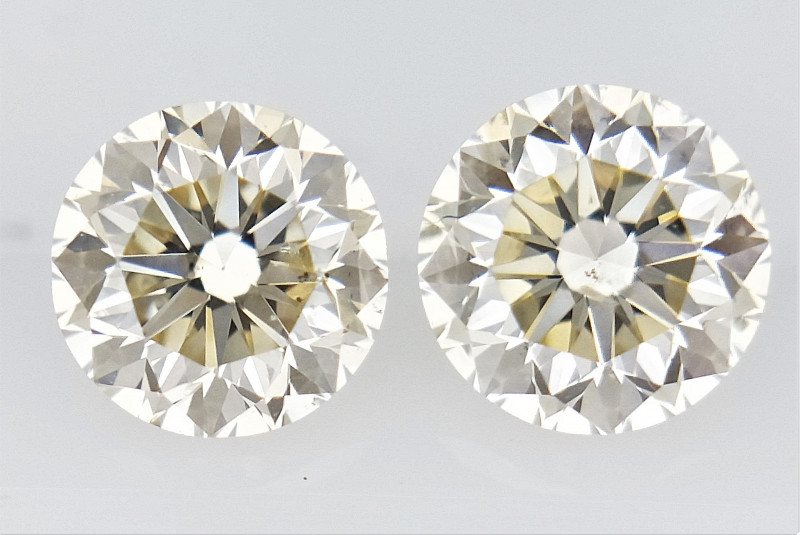 0.435 cts , Pair Round Diamonds , Light Color Diamonds , WR1225