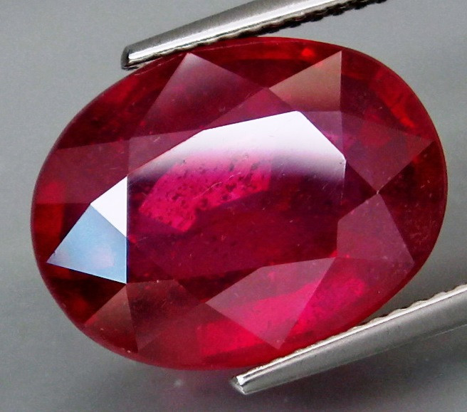 13.05 Cts. Top Quality  Blood Red Natural Ruby Madagascar Gem