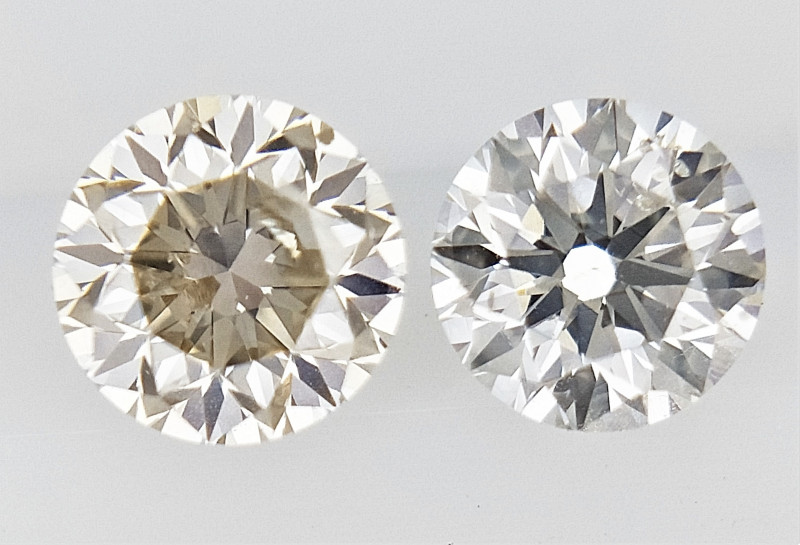 0.34 cts , Pair Round Diamonds , Light Color Diamonds , WR1229