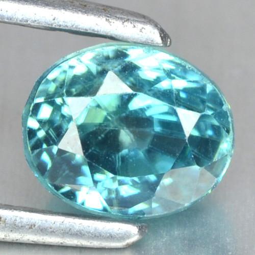 1.35 Cts Blue Zircon Natural Loose Gemstone