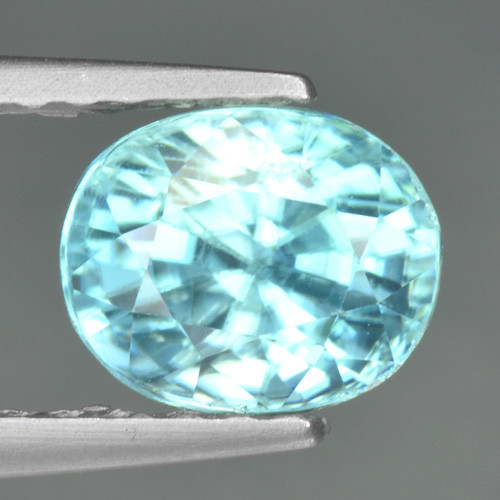 1.97 Cts Blue Zircon Natural Loose Gemstone