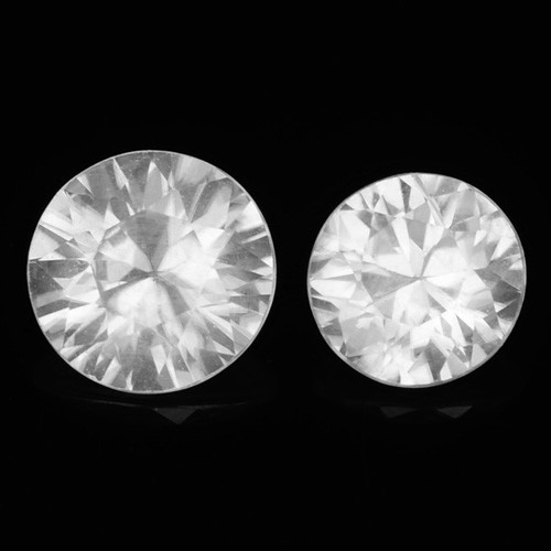 1.66 Cts White Zircon Natural Loose Gemstone