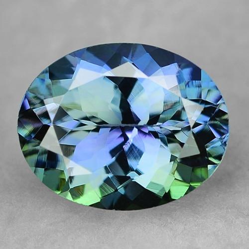 Peacock Tanzanite 1.41 Cts Rare Blue Green Color Natural Gemstone