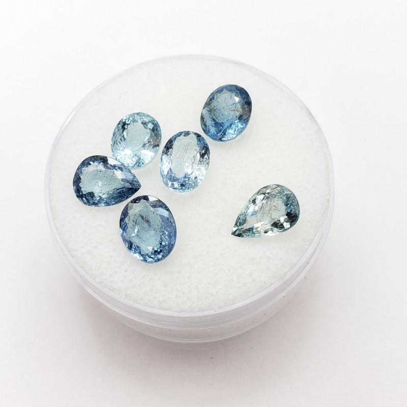 Aquamarine Parcel, 6.10 Cts TW