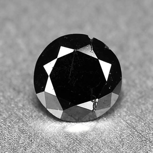 0.22 Cts Amazing Rare Fancy Jet Black Natural Loose Diamond