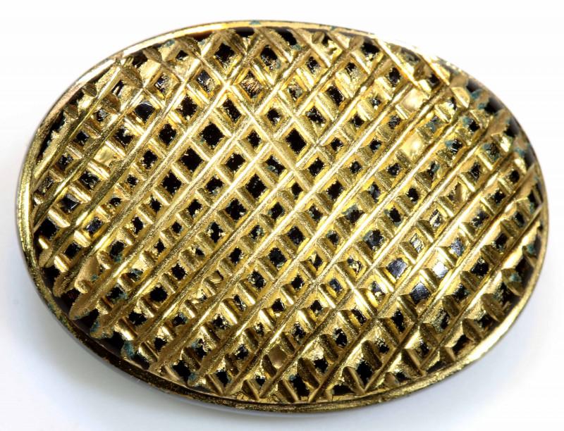 23 CTS BLACK ONYX   24K GOLD ENGRAVED  LG-641