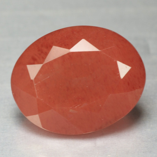 2.06 Cts Amazing Rare Natural Red Color Andesine Gemstone