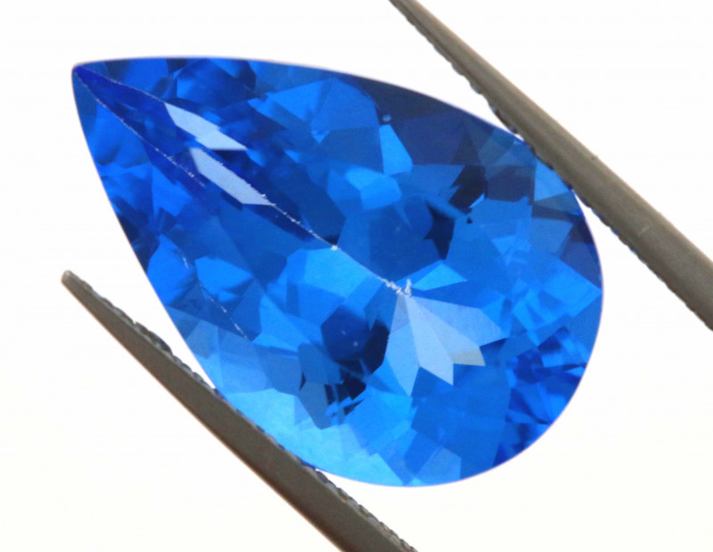 12.60-CTS  SWISS BLUE TOPAZ FACETED GEMSTONE  CG-2917