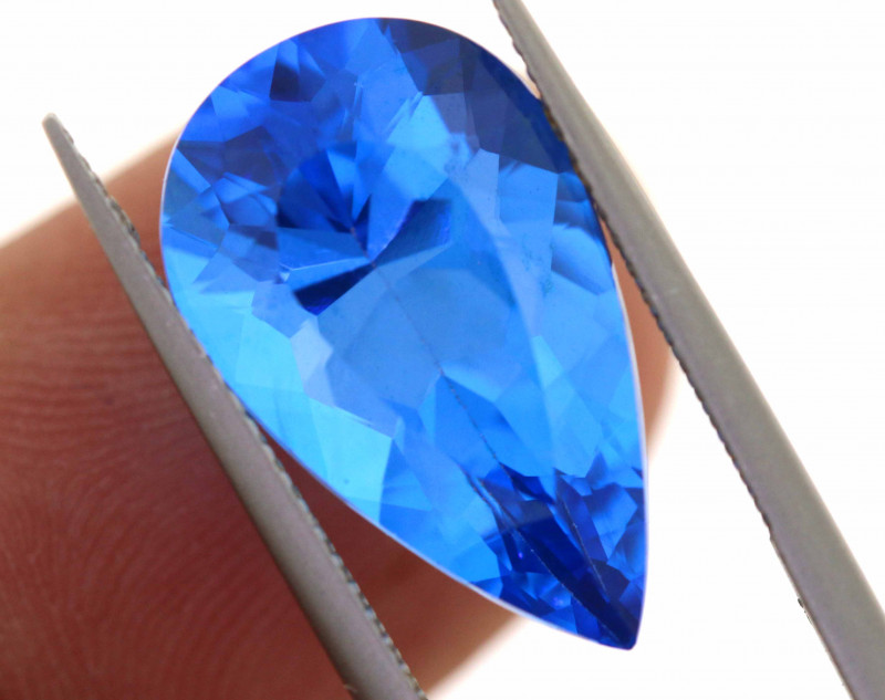 11.30-CTS  SWISS BLUE TOPAZ FACETED GEMSTONE  CG-2921