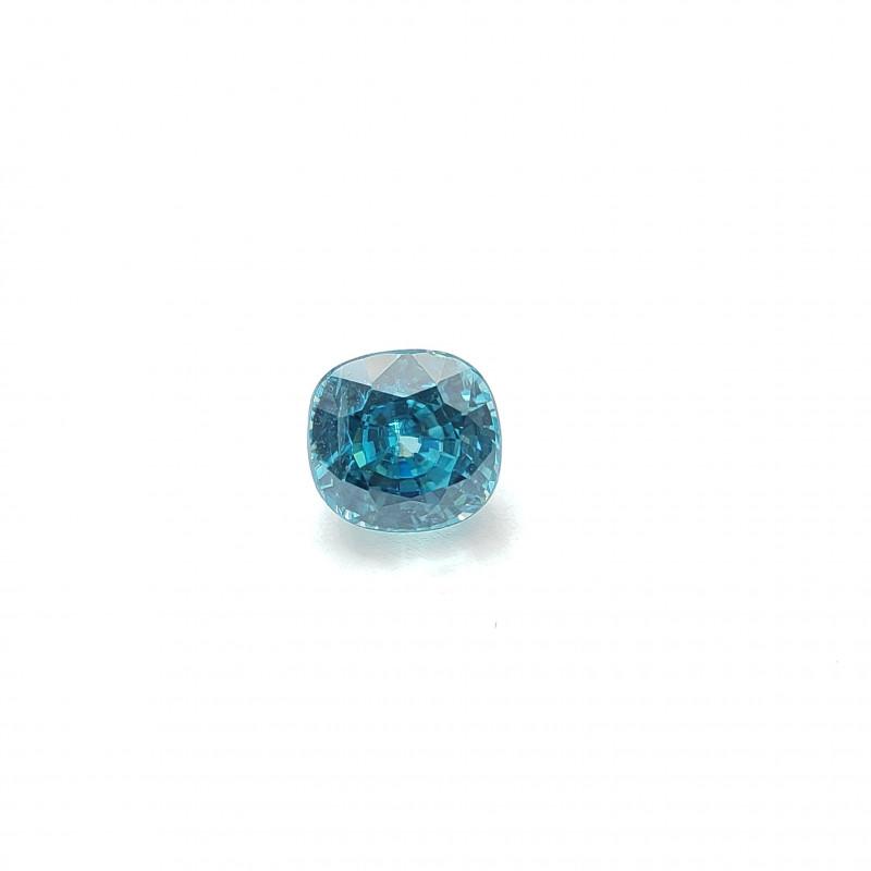 Blue Zircon, 6.82ct,  Cushion Cut