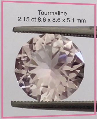 Pretty Soft Pink 2.15ct Precision Cut Tourmaline - Tanzania H722