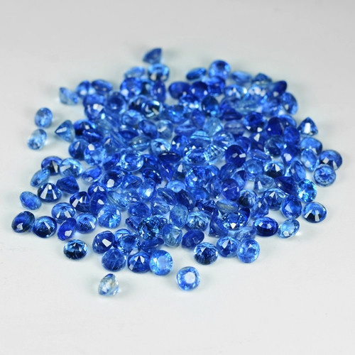 30.05 Cts 166 Pcs Fancy Royal Blue Color Natural Kyanite Gemstone Parcel