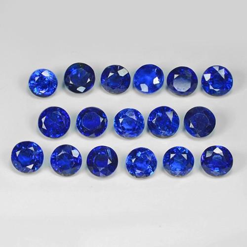 15.18 Cts 17Pcs Fancy Royal Blue Color Natural Kyanite Gemstone Parcel