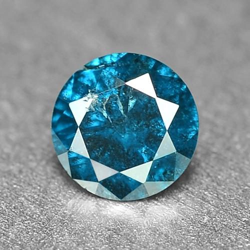 0.14 Cts Sparkling Rare Fancy Intense Blue Color Natural Loose Diamond