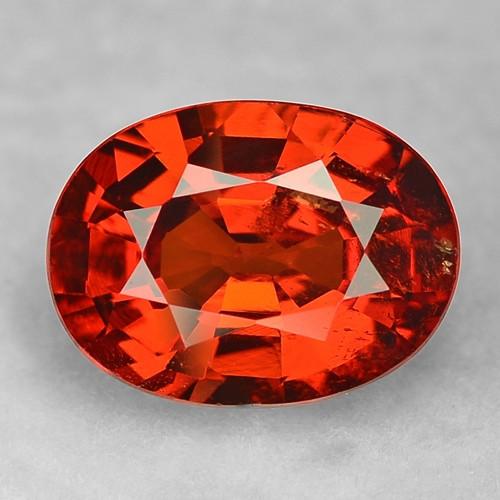 2.83 Cts Amazing Rare Fancy Orange Red Natural Spessartite Garnet Loose Gem