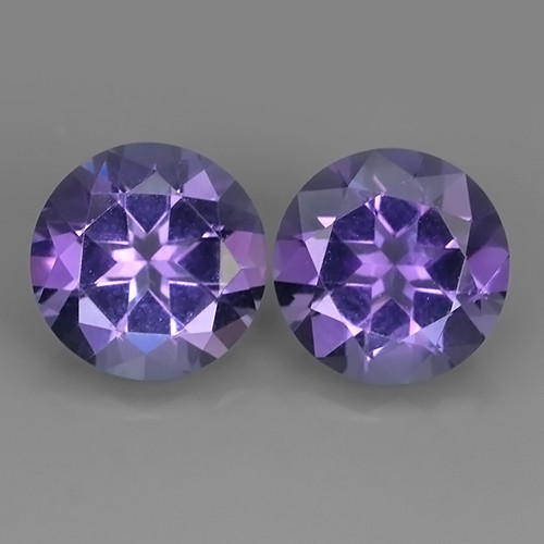 4.65 CTS INCREDIBLE PURPLE AMETHYST URUGUAY ROUND PAIR EXCELLENT!!