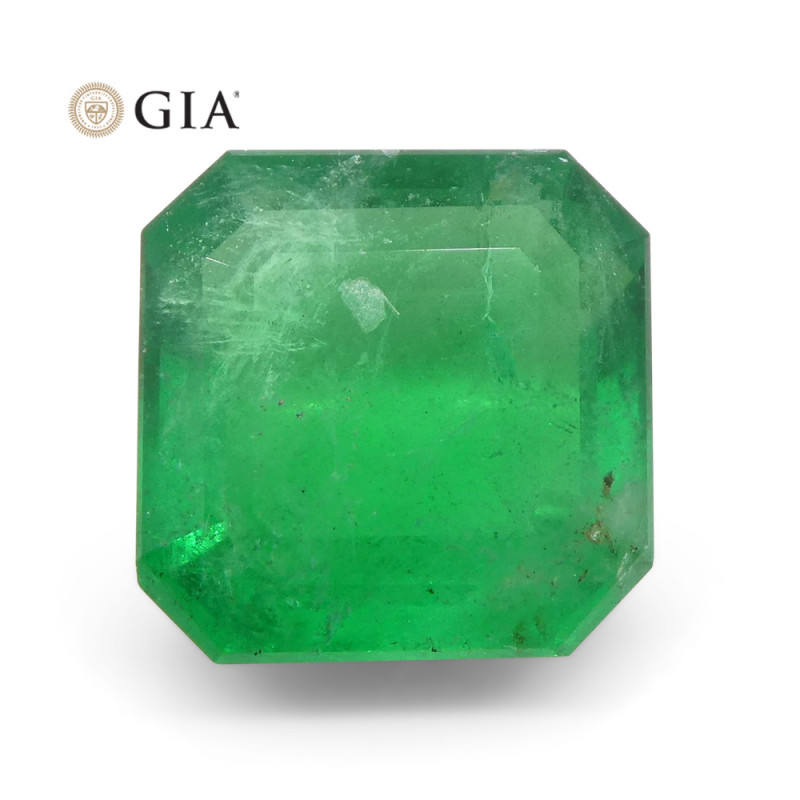 2.55 ct Octagonal/Emerald Cut Emerald GIA Certified