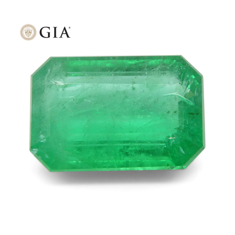 2.69 ct Octagonal/Emerald Cut Emerald GIA Certified