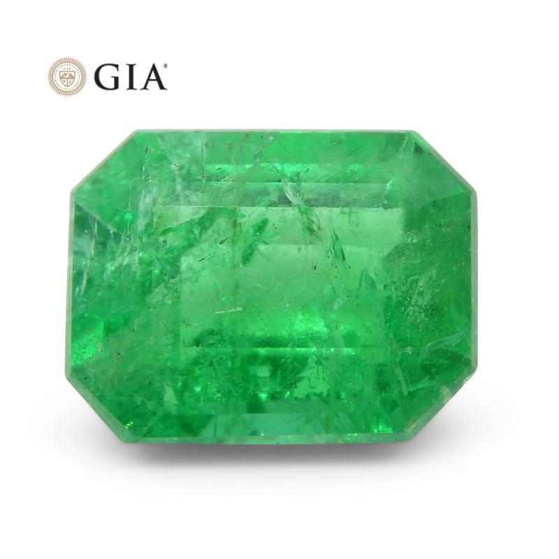 2.26 ct Octagonal/Emerald Cut Emerald GIA Certified
