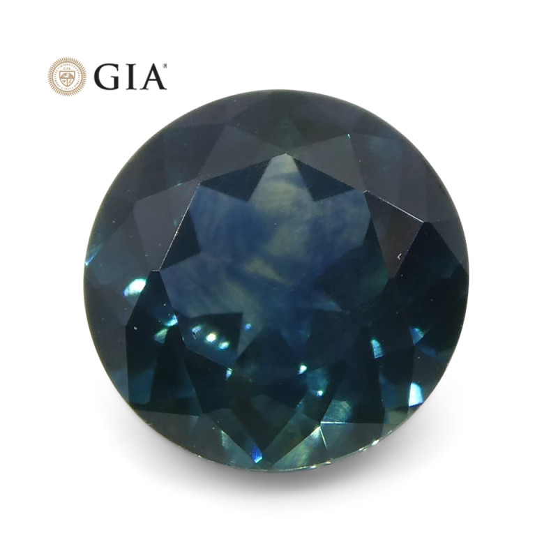 1.1 ct Round Sapphire GIA Certified USA (Montana)