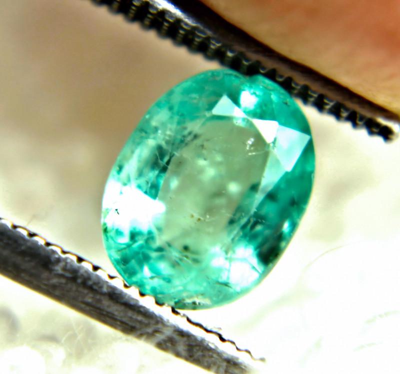 1.09 Carat Flashy African Emerald - Cool
