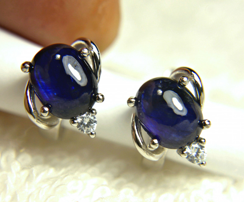 23.94 Tcw. Sapphire, Sterling Silver Earrings - Gorgeous