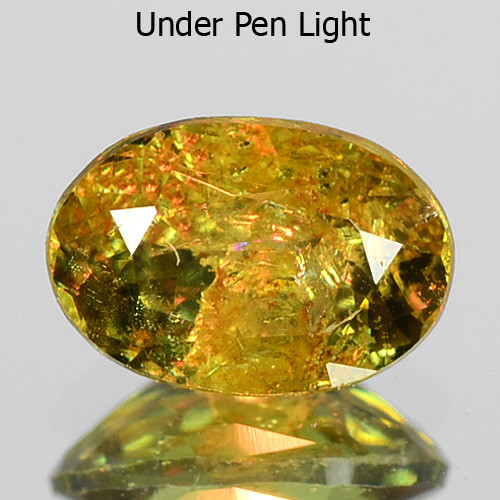 0.55 Cts Untreated Color Changing Natural Demantoid Garnet Gemstone