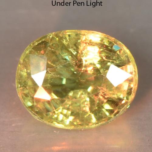 0.48 Cts Untreated Color Changing Natural Demantoid Garnet Gemstone