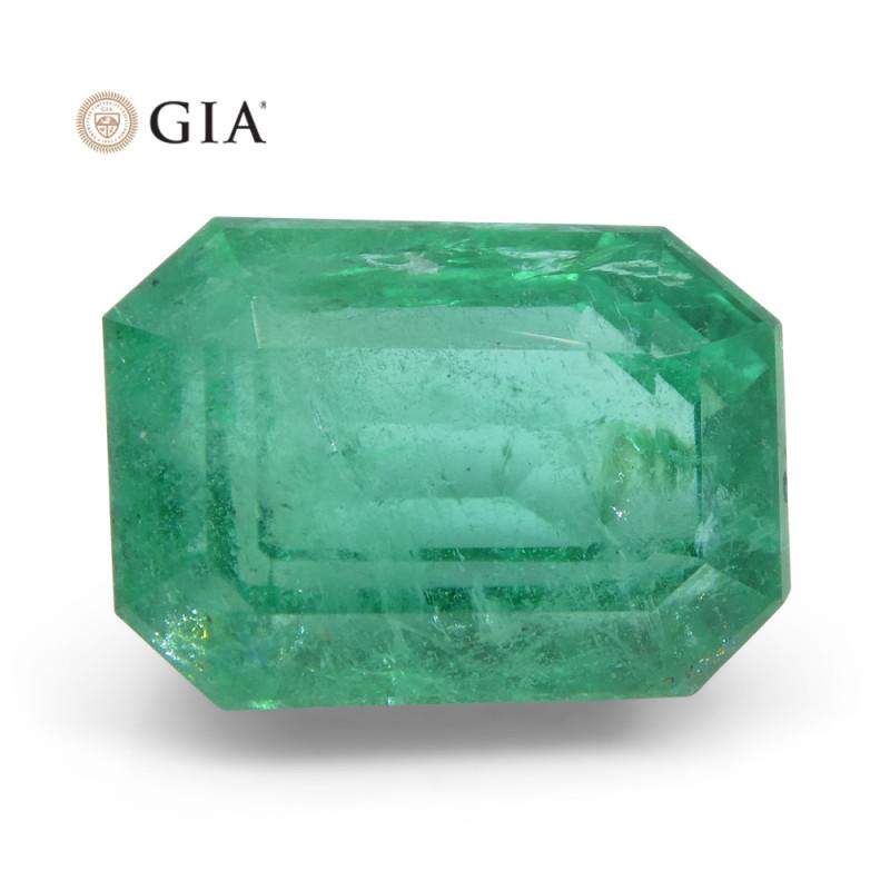 6.25 ct Octagonal/Emerald Cut Emerald GIA Certified